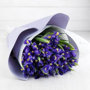 Букет из 27 ирисов и салала — Букеты цветов