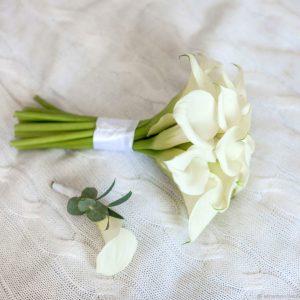 Букет невесты из 11 калл — Каллы
