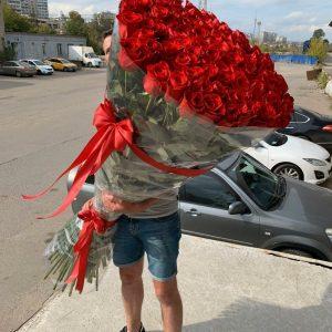 Букет из 101 розы 170 см — Букеты цветов