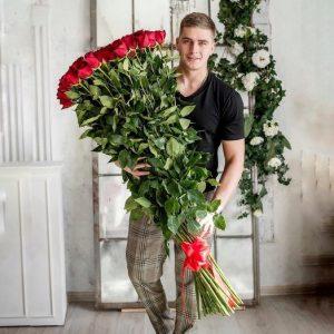 Букет из 51 розы 150 см — Букеты цветов