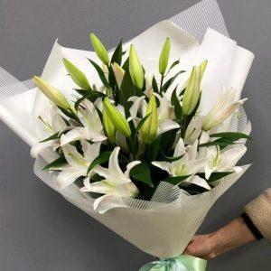 Букет из 9 лилий — Букеты цветов