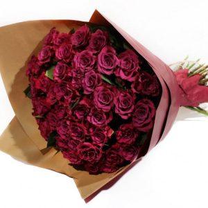 Букет из 21 премиальной розы — Букеты цветов