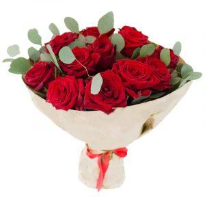 Букет из 15 красных роз — Букеты цветов