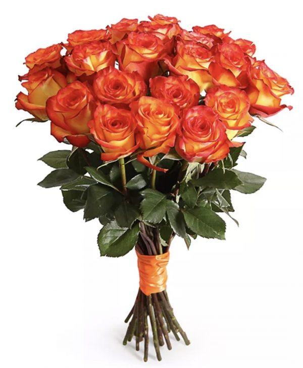 Букет из 21 оранжевой розы