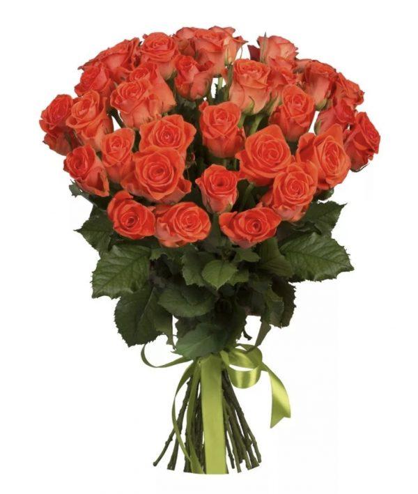 Букет из 35 оранжевых роз