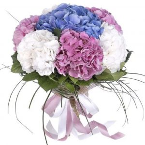 Букет из 7 гортензий — Букеты цветов