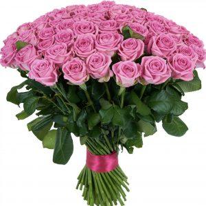Букет из 101 розовой розы — Букеты цветов