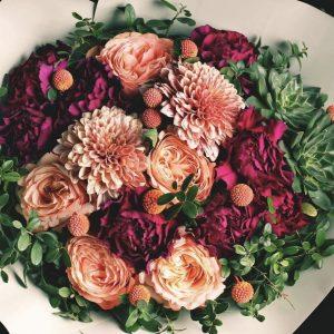 Арт-букет из астр и роз — Арт-букеты