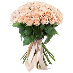 Букет из 51 кремовой розы — Букеты цветов