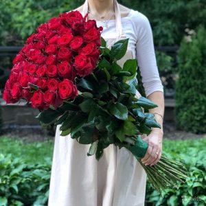 Букет из 51 розы 120 см — Букеты цветов
