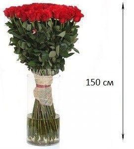 Букет из 101 розы 150 см