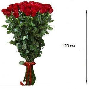Роза 120 см, 25 шт. Букет