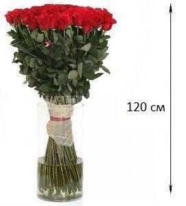Букет из 101 розы 120 см