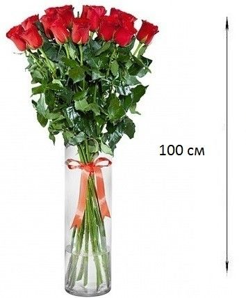 Букет из 25 роз 100 см (1 метр)