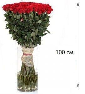 Букет из 101 розы 100 см (1 метр)
