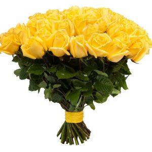 Букет из 25 желтых роз — Букеты цветов