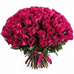 Розы «ЧЕРРИ О» 101 шт — Букеты цветов