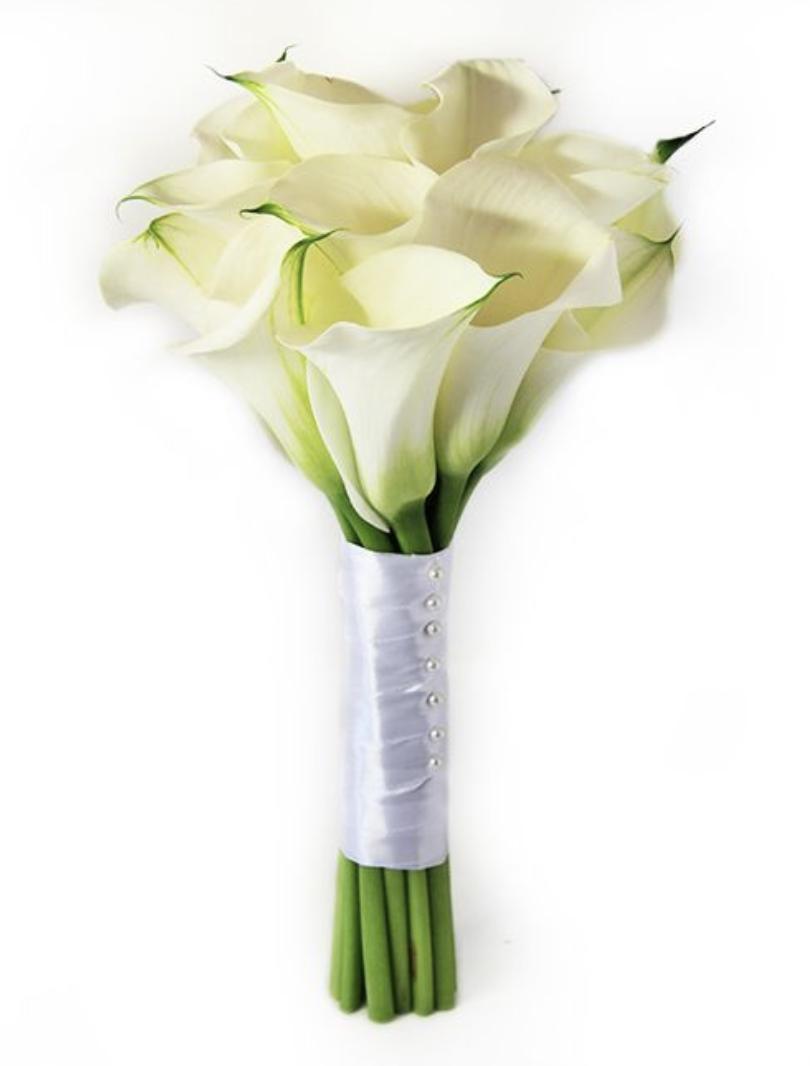 Цветов, круглый букет невесты калл купить москва