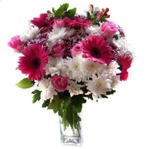 Букет из гербер и хризантем — Букеты цветов