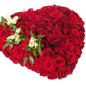 Сердце из 101 красной розы — Букеты цветов