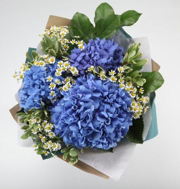 Букет из гортензий и ромашек — Букеты цветов