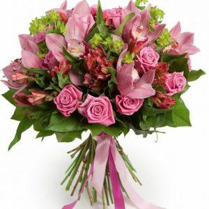 Букет роз и альстромерии — Альстромерии