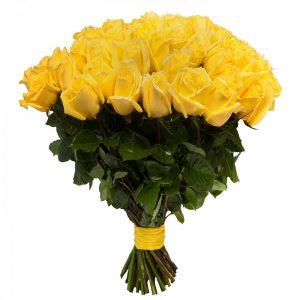 Букет из 51 желтой розы — Букеты цветов