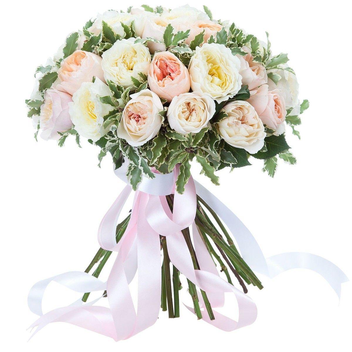 Романтичный, дешевый букет из пионовидных роз фото