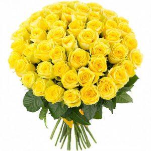 Букет из 101 желтой розы — Букеты цветов