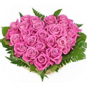 Сердце из 25 розовых роз — Композиции