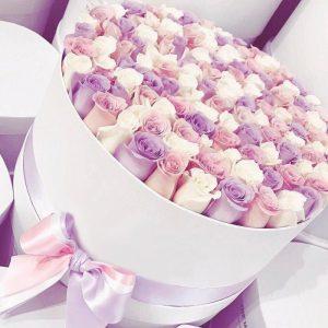 Букет из 101 розы в коробке