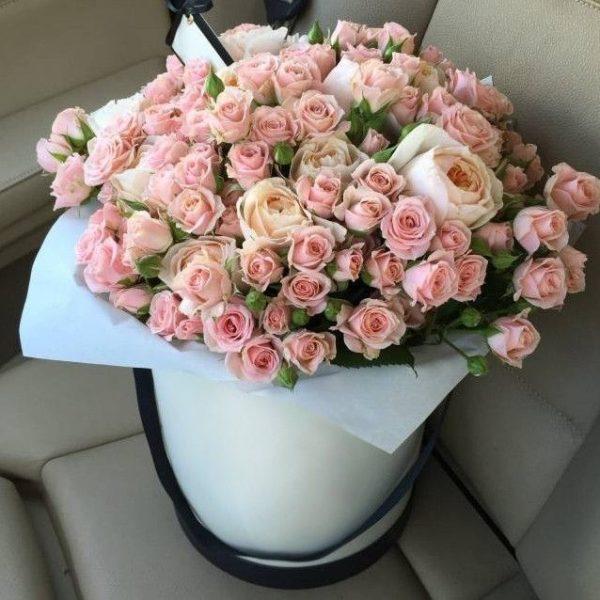 Розы кустовые и эксклюзивные в коробке