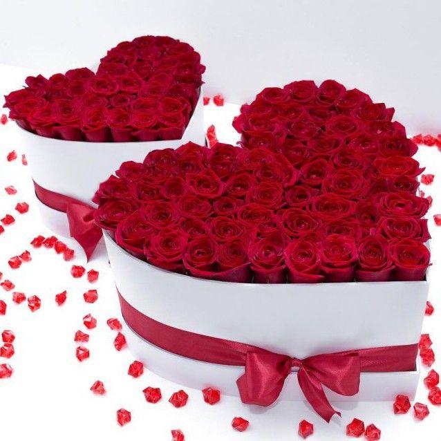 красивые букеты в форме сердца фото что