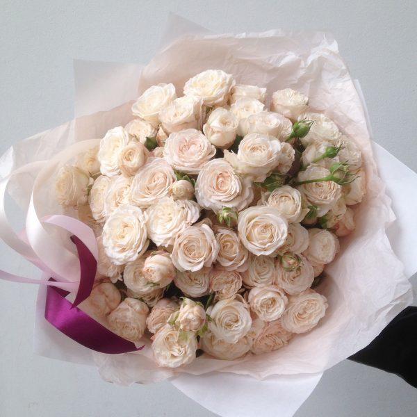 Букет эксклюзивных пионовидных роз