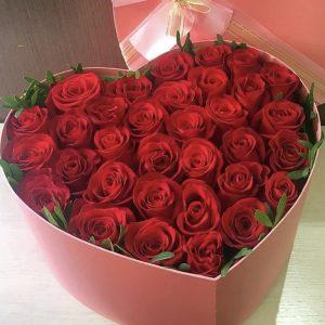 Сердце из роз «Ценю тебя»