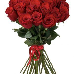 Букет из 21 красной розы — Букеты цветов