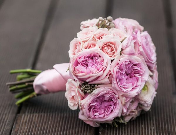 Букет невесты из английских роз