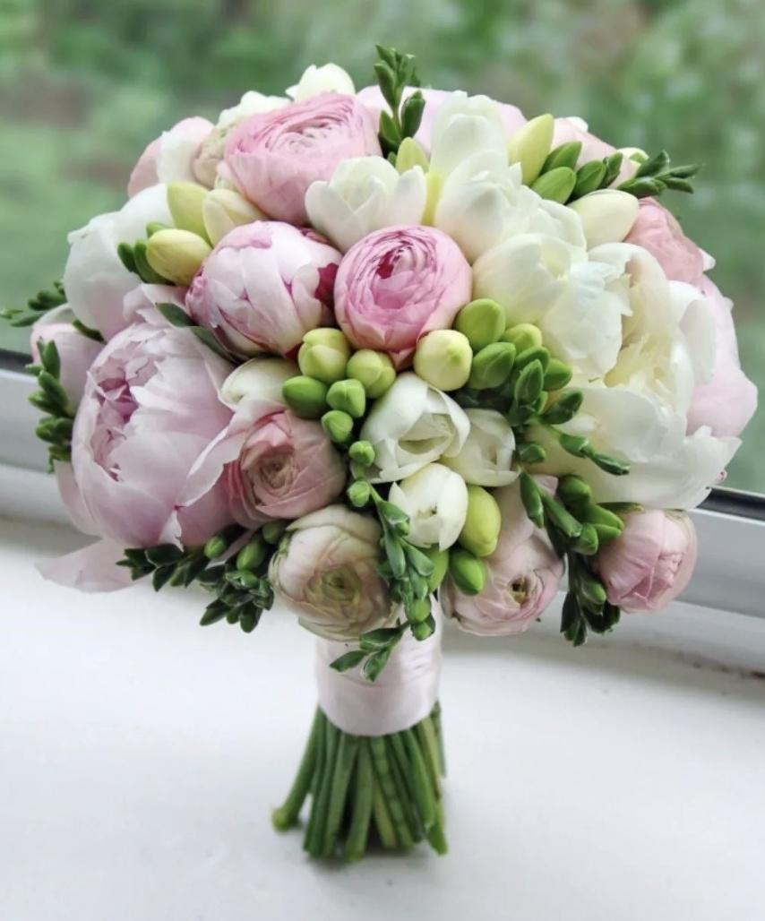 Купить букет пионы и розы, день народження фото
