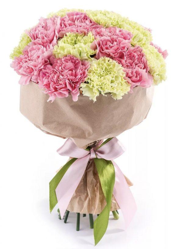 Букет из гвоздик микс — Букеты цветов