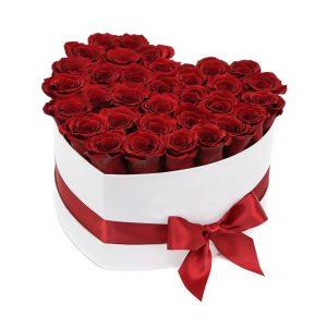 Сердце из 25 красных роз — Композиции