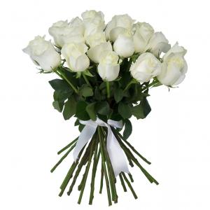 Букет из 21 белой розы — Букеты цветов