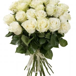 Букет из 25 белых роз — Букеты цветов