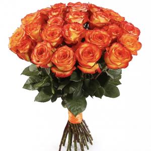 Букет из 25 оранжевых роз — Букеты цветов