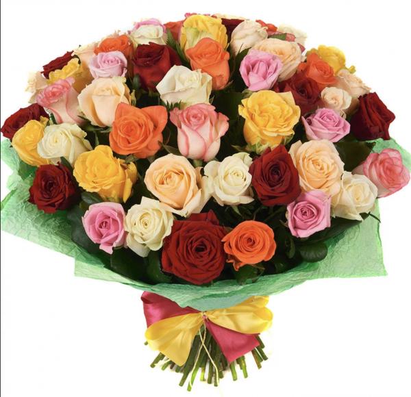 """Букет """"Радуга"""" из 51 розы"""