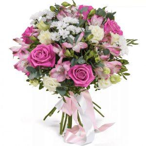 Букет роз и альстромерий — Альстромерии