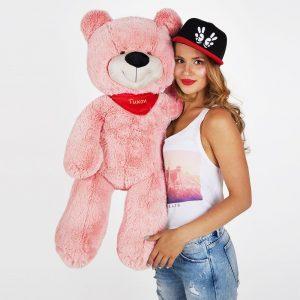 Мишка розовый 90 см — Подарки