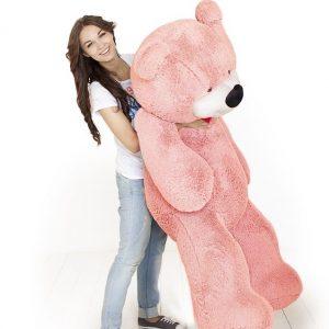 Мишка розовый 170 см — Плюшевые медведи