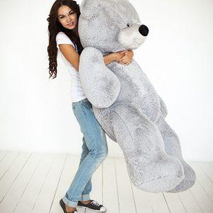 Мишка серый 170 см — Плюшевые медведи
