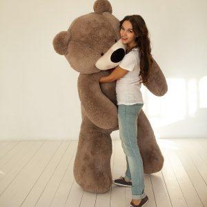 Мишка кофейный 200 см — Плюшевые медведи
