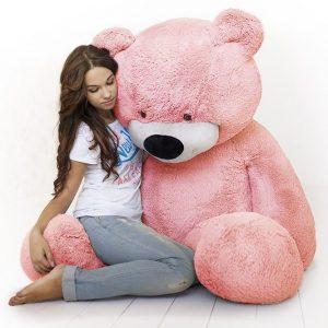 Мишка розовый 200 см — Плюшевые медведи
